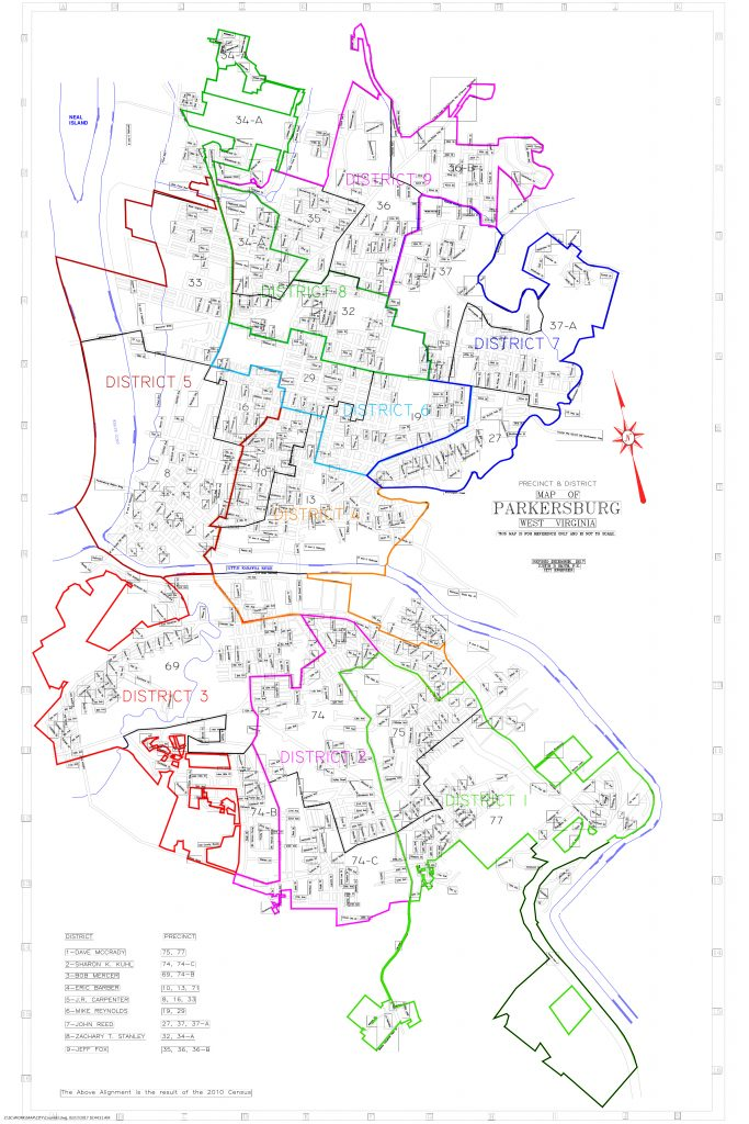 City Of Parkersburg City Council - Map of west virginia cities